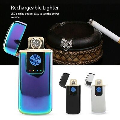 Electric-Lighter USB Rechargeable Flameless Windproof Lighter Metal Cigarette AU