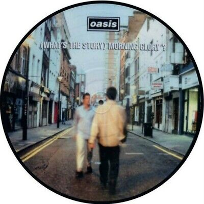 "OASIS WHATS THE STORY MORNING GLORY  VINYL STICKER 100MM 4 "" buy 2 get 1 free."