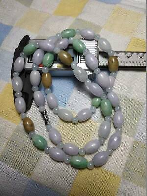 Grade A 100% Natural Genuine Burma Jadeite Jade Beaded Necklace #1868 Colour