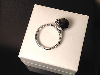 5f0a0ad4a Authentic PANDORA Sterling BLACK GARDEN ODYSSEY Cocktail RING in box SIZE  8.25