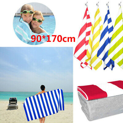 Striped Extra Large Microfibre Lightweight Beach Towel Quick Dry - Travel Towels
