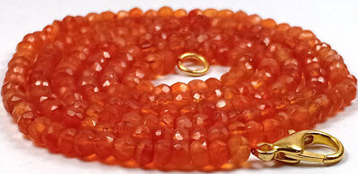 3-4MM Natural Dark Carnelian Faceted Gemstone Beads Necklace Jewellery