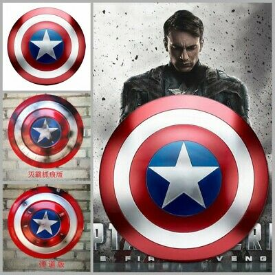 46CM Metal Captain America Shield War Damage & Bullet Marks Ver For Adult &Child