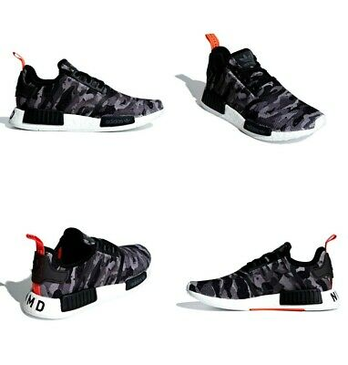 901e873526e55 Adidas Originals NMD R1 Shoes Grey   Solar Red Camo Pack Men Size 10.5 US  G27913