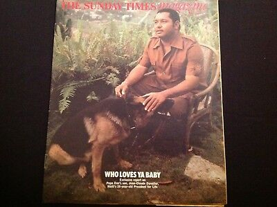 Jean Claude Duvalier Haiti Cover & Article 1977  Magazine