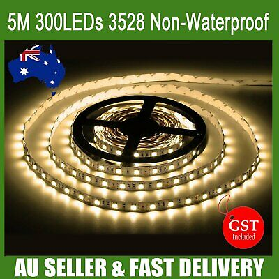 5M 300 LED 5050 SMD Cool White Waterproof Flexible SMD Soft Home Car Strip Light