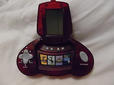 Rare Vintage Red Hand Held Electronic Ten Games In One Unique Collectible Gift