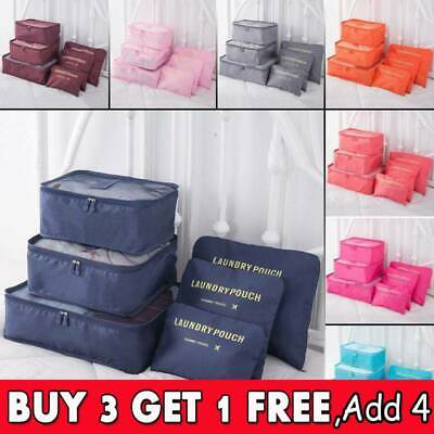 Packing Cubes Travel Pouches Luggage Organiser Clothes Suitcase Storage Bag CB