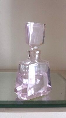 Superb Vintage Art Deco Perfume Bottle – Pale Pink
