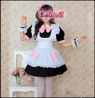 ec56609561 COSPLAY CLOTHES SWEET Lolita Blue Cute Nurse Housemaid Dress ...