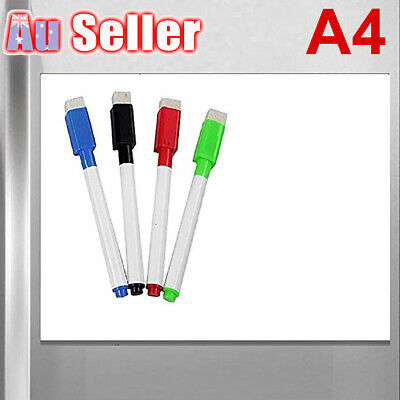 A4 Magnetic Soft Whiteboard Marker Office Memo Message Board Home Fridge