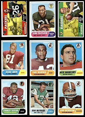 4c9e814a7 1968 TOPPS FOOTBALL Complete Set GD+ -  465.00