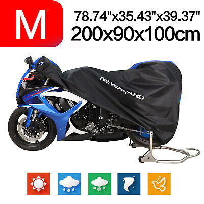 M Motorcycle Cover 190T Waterproof For Scooter Off-road Motocross Black&Blue