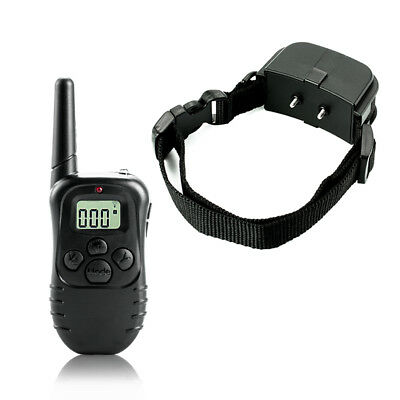 998D-1 300M Shock Vibra Remote Control LCD Electric Dog Training Collar E&F