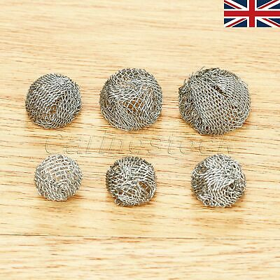 UK Stock 10pcs Tobacco Pipe Metal Screen Smoking Ball Filter 13/14/15/16/18/20mm