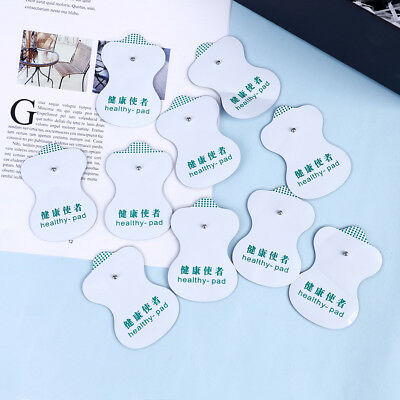 10Pcs Snap On Replacement Electrode Pads Cable For Tens Unit Therapy Massager