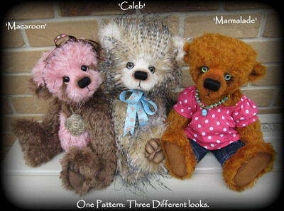Mohair, Faux Fur or Memory Teddy Bear Pattern - 3 variations from 1 pattern