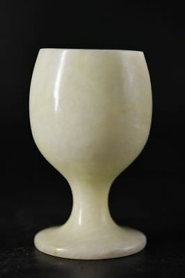 Chinese old jade Carved Goblet    A1