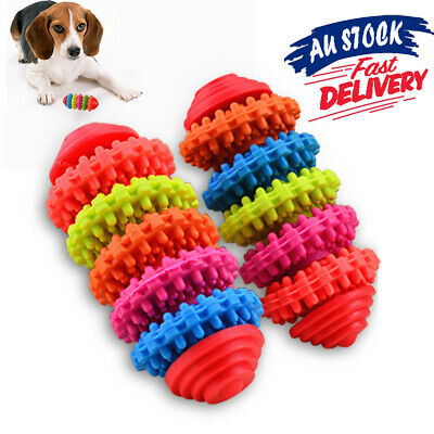 Colorful Teething Dental Teeth Gums Chew Toy Tool Puppy Healthy Dog Pet Rubber