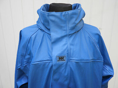 Helly Hansen Girl's Blue Rain Jacket Concealed Hood Size 14 Yrs 164 cm