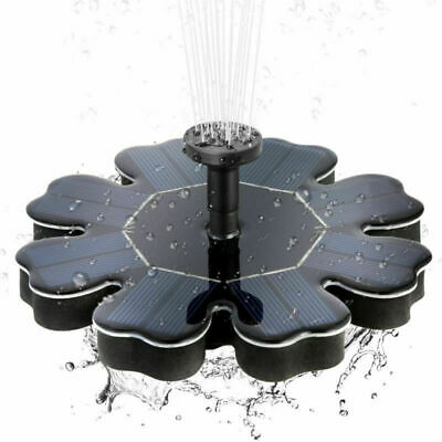 Solar Panel Powered Water Feature Plants Pump Garden Pool Pond Aquarium Fountain