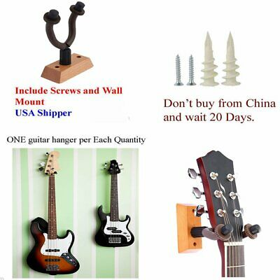 3 Packs Guitar Hanger Holder Hook Rack Stand Wall Mount Display Instrument
