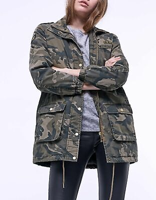 ace52afe Stradivarius Woman New (Zara Group) Camouflage Print Parka Ref: 05860348  Size S