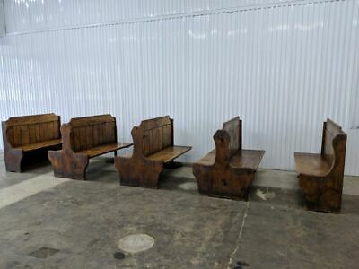VINTAGE Lot of Rustic Knotty Pine Restaurant Booths... Barbeque, Steakhouse...