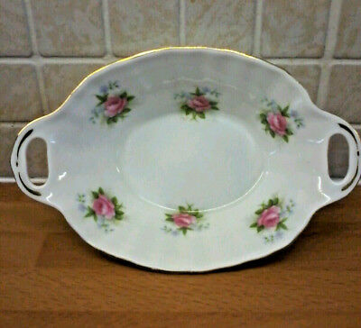 Royal Albert Fine Bone China Forget Me Not Rose Dish Trinkets,Sweets,Mints,Bowl