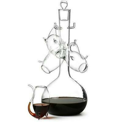 Port Sipper Set with 4 Glasses Barware Gift Box Decanter Set SALE RRP £30 SALE