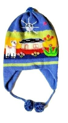Peruvian Arpillera Scarves & Hats for Children