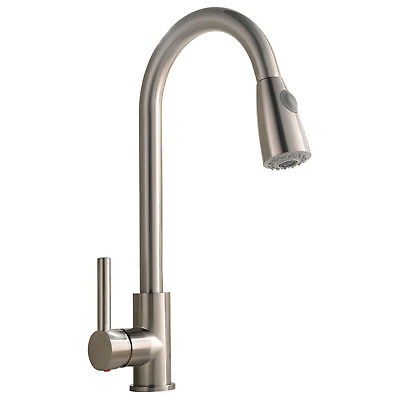 BEST COMMERCIAL KITCHEN Faucet Stainless Steel Single Handle Pull Down  Sprayer
