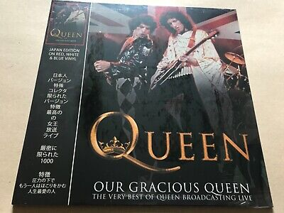 QUEEN    Our Gracious Queen    Red White & Blue Swirl Vinyl lp live show