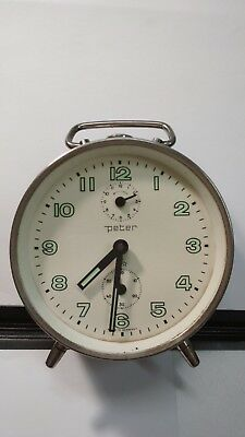 Peter_Collectible_Vintage_Silver_Hand Wind-Up_Mechanical_ Alarm Clock _Germany