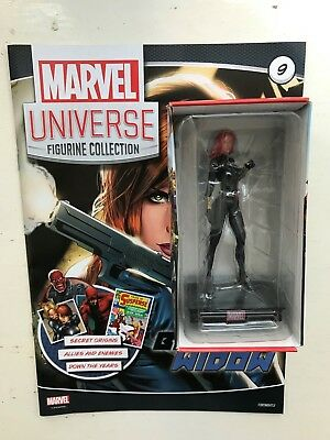 Marvel Universe Figurine Collection Issue 9 Black Widow Panini Figure + Magazine