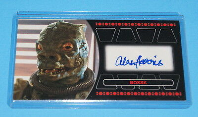 Star Wars Topps Return Of The Jedi 3d Widevision Bossk Autographe Carte