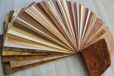 "King size veneer mix, Wood veneer mix, 51 sheets wood veneer, 0.6mm (~1/42"")"