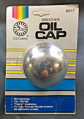 Vintage Cal Custom Oil Breather Cap Hot Rod American Car Pickup Truck Dragster