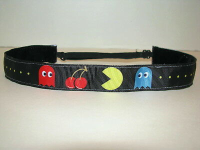 PAC MAN Game Nonslip Headband adjustable Sweaty Sports Hair Bands Soccer PACMAN
