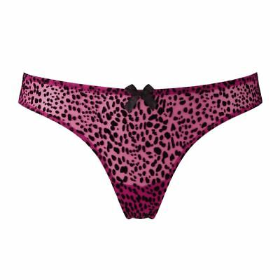 FREYA INSTINCT THONG SIZE S 10 12 MAGENTA PINK SHEER LACE KNICKERS 1757 NEW