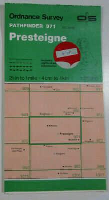 1988 Old OS Ordnance Survey Pathfinder 1:25000 Map 971 Presteigne SO 26/36