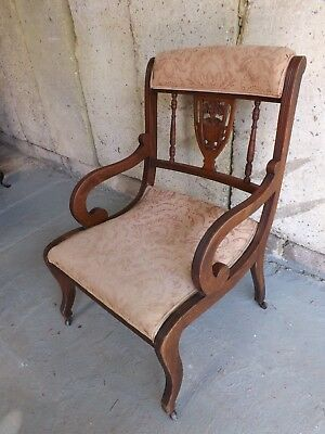 Late 19th Century upholstered side chair. Good condition. UK DELIVERY INCLUDED.