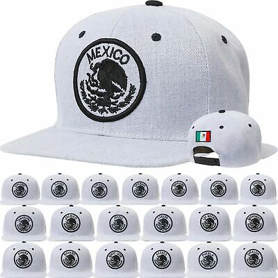 bfbe54ff05d MEXICO Snapback State Hecho Eagle Federal Logo Embroidered Baseball Cap  Gray Hat