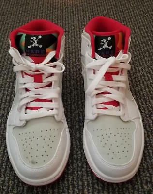 the latest 42982 55450 NIKE AIR JORDAN 1 MID WB HARE BUGS BUNNY WHITE-TRUE RED Silver Men s 9.5