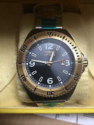 "Invicta Men's ""Pro-Diver"" Stainless Steel &18k Gold Ion-Plated Watch 16277 NEW"