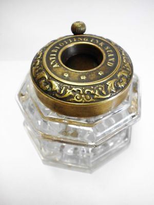 seltenes antikes Tintenfass-ANTI BLOTTING INKSTAND-seldom antique inkwell