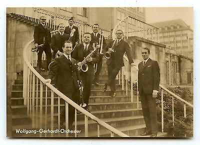 Carte Photo.orchestre.musiciens.wolfgang-Gerhardt-Orchester.music.musicians