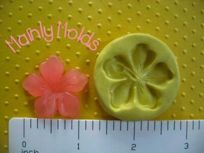 HIBISCUS FLEXIBLE silicone mold 4 fondant polymer clay chocolate candy tropical