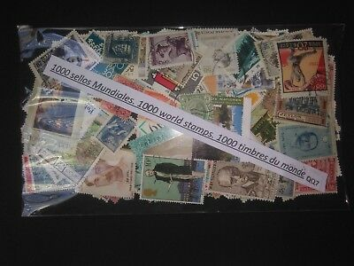 Qq7-Lote 1000 Sellos Diferentes Universales,mundiales,sin Tasar,1000 Stamps