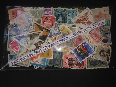 Qq8-Lote 1000 Sellos Diferentes Universales,mundiales,sin Tasar,1000 Stamps